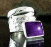 Sugilite Double Ring 18