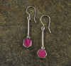 Ruby Sterling Silver Earrings 3
