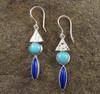 Amazonite Lapis Lazuli Earrings 9