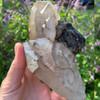 Smoky Quartz Elestial Crystal With Lepidolite 19