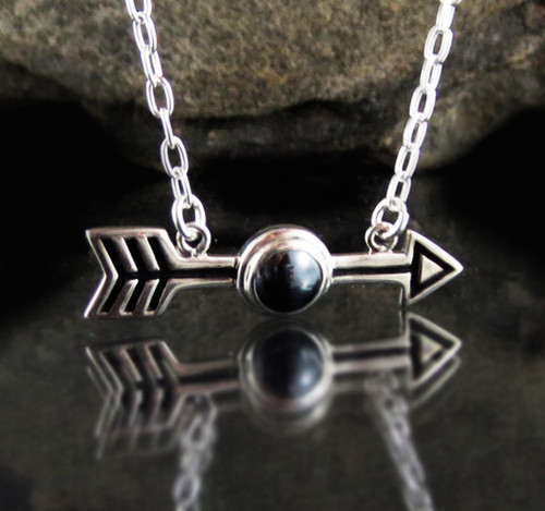 Hematite Arrow Necklace 10
