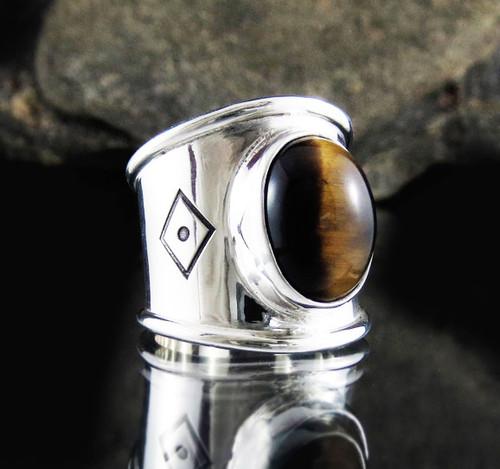 Tiger Eye Ring 16