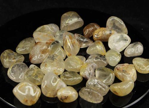 Rutilated Quartz Tumbled Stone 4