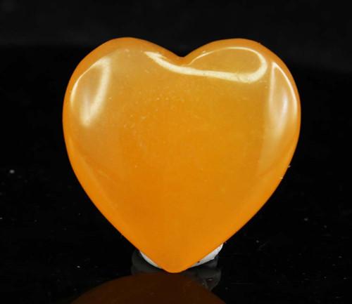 Orange Calcite Heart 6