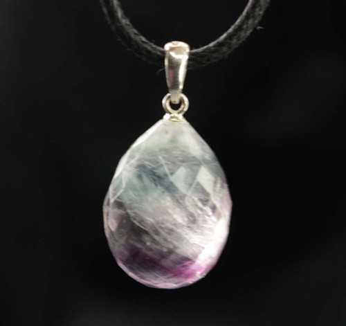 Rainbow Fluorite Faceted Pendant 24