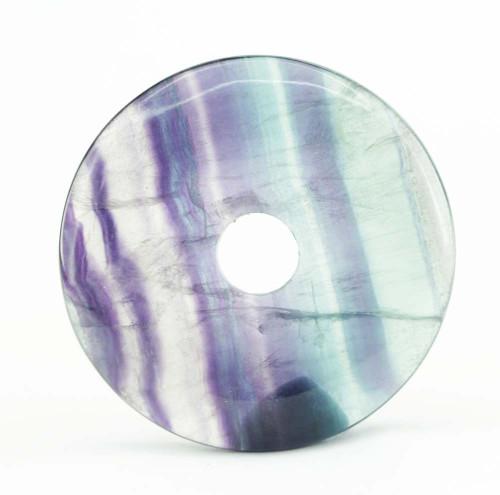 Rainbow Fluorite Donut Pendant 40mm 3