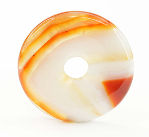 Carnelian Donut Pendant 40mm 5