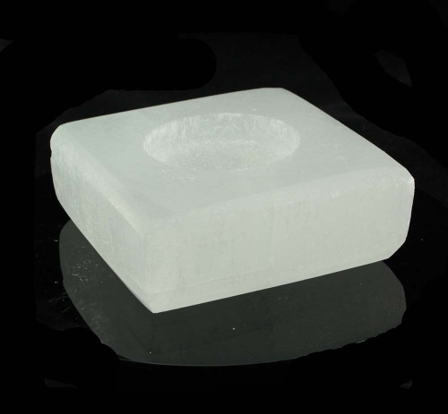 Square Selenite Tealight Candle Holder 7