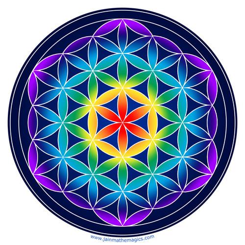 Jain 108 Flower of Life Decal & Sticker