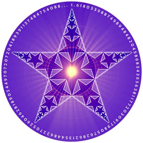 Jain 108 Fractal Pentacle Decal & Sticker