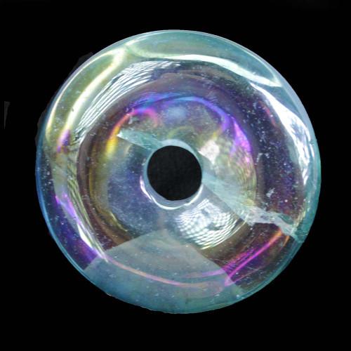 Aqua Aura Quartz Donut Pendant