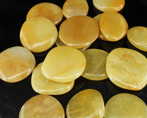 Yellow Aventurine Flat Stone Small