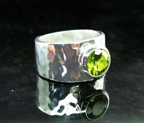 Peridot Sterling Silver Ring 2