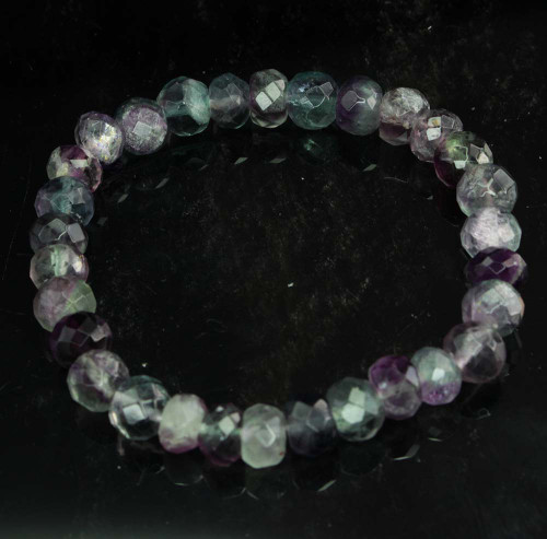 Faceted Rainbow Fluorite Bracelet 13