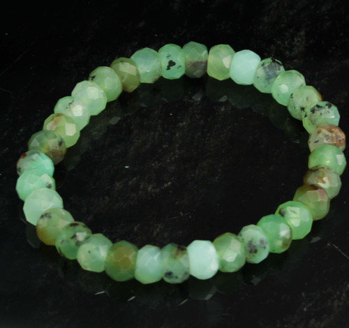Chrysoprase Faceted Bracelet 6