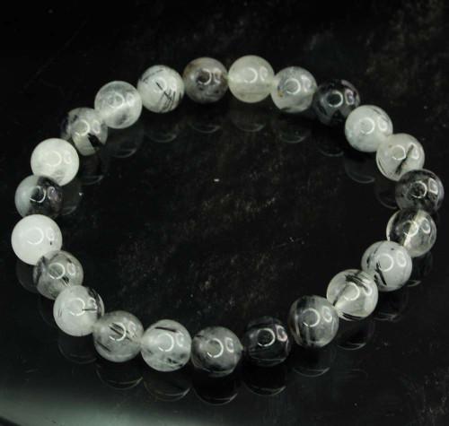 Tourmaline In Quartz Round Bracelet 5