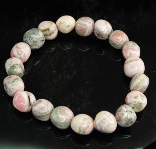 Rhodochrosite Pebble Bracelet 9