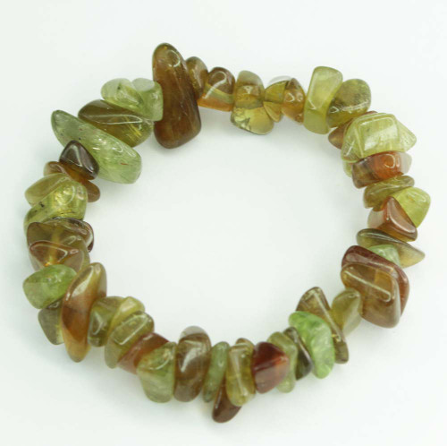 Green Tourmaline Chunky Chip Bracelet 9