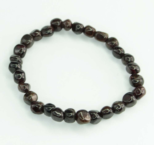 Garnet Pebble Bracelet 11