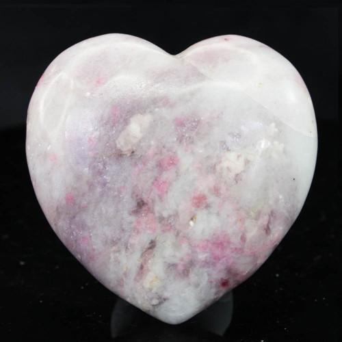 Lepidolite & Pink Tourmaline Heart 1