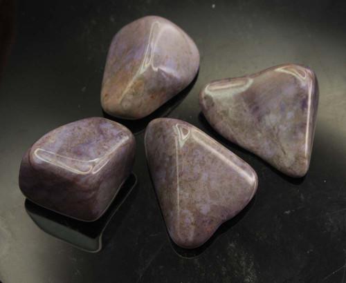 Rare Purple Jade Tumbled Stone