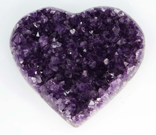 AAA+ Large Amethyst Cluster Heart 2