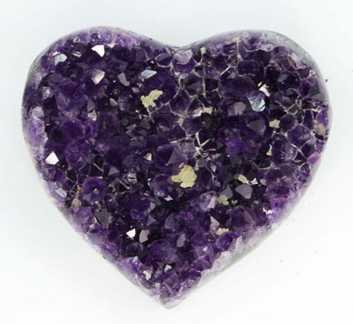AAA+ Amethyst Cluster Heart 3