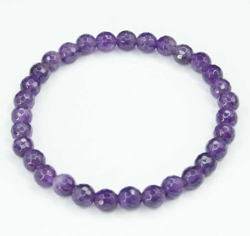 Amethyst Faceted Bracelet 25