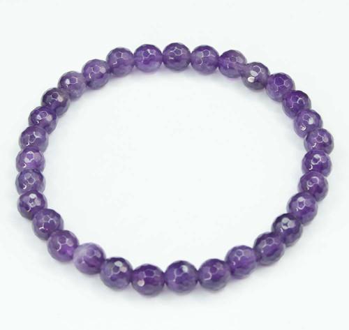 Amethyst Faceted Bracelet 25
