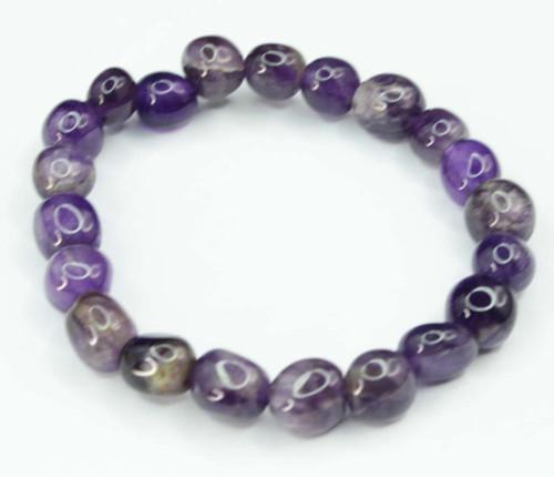 Amethyst Pebble Bracelet 22