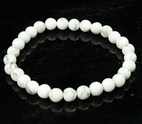 White Howlite Round Bracelet 3