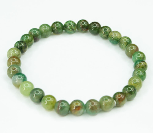 Moss Agate Round Bracelet 4