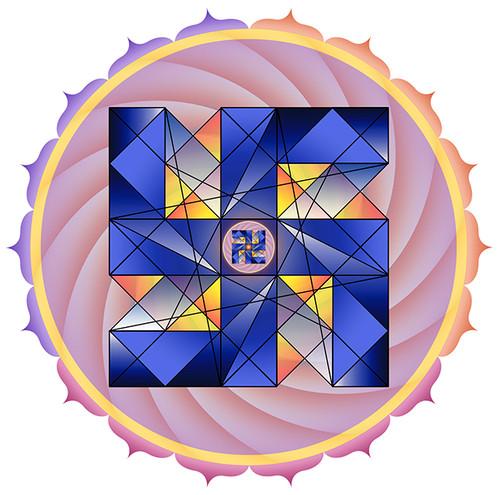 Jain 108 Swaztika Decals x 2