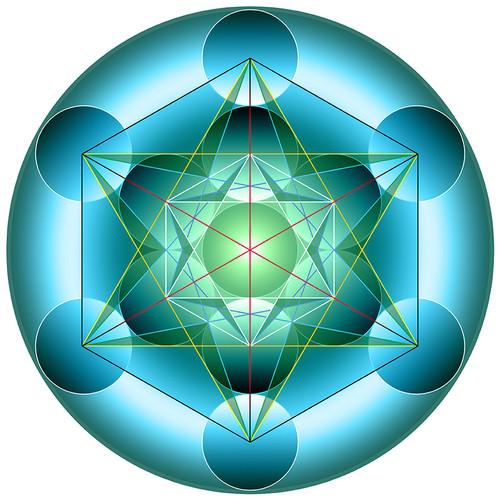 Jain 108 Metatron's Cube Decals x 2