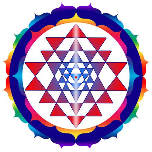 Jain 108 Shri Yantra Decals x 2