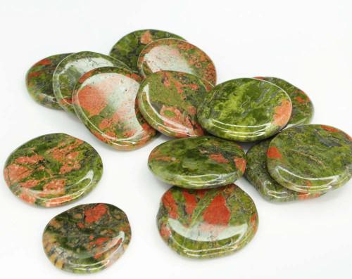 Unakite Flat Stone Small
