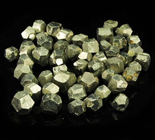6 x Pyrite Dodecahedrons