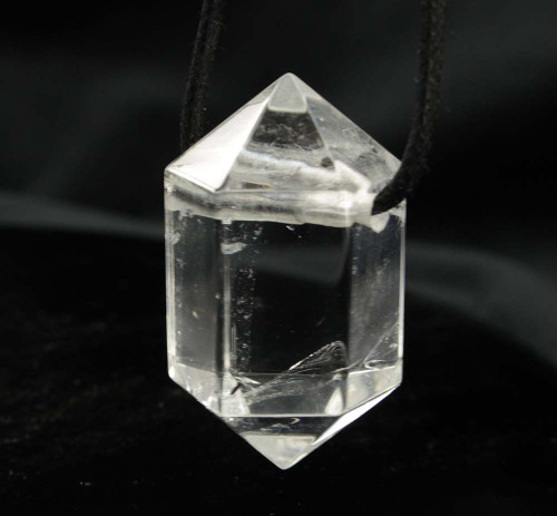 Clear Quartz Drilled DT Pendant