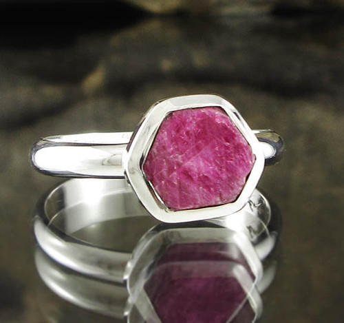 Ruby Sterling Silver Ring 9