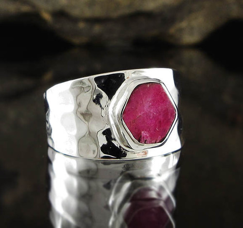 Ruby Sterling Silver Ring 11