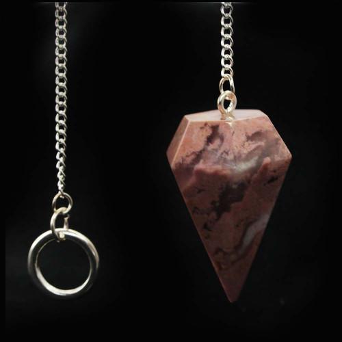 Rhodochrosite Pendulum