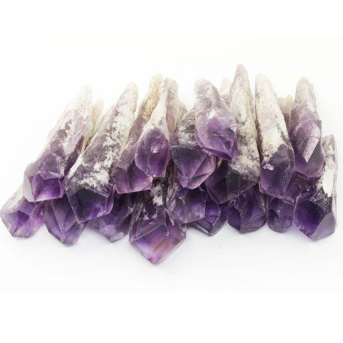 Dragon's Tooth Amethyst Elestial Wand Natural Points