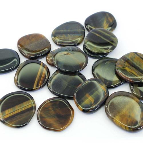 Multi Tiger Eye Flat Stone Small