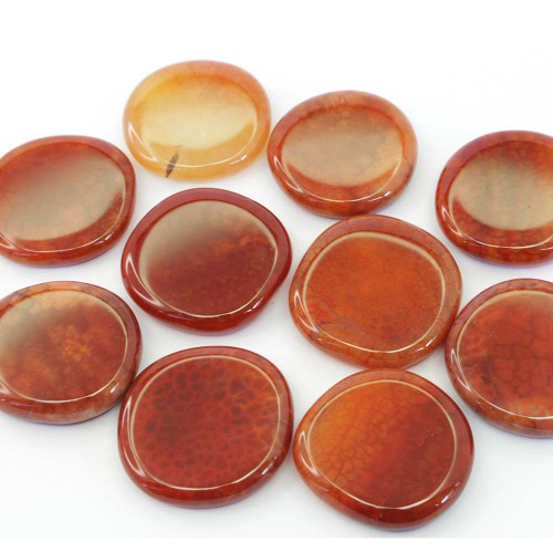 Fire Agate Flat Stone Small