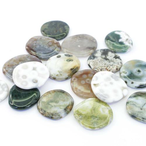 Ocean Jasper Flat Stone Small