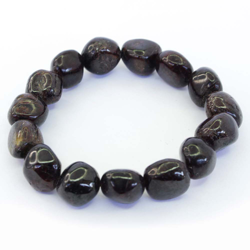 Garnet Pebble Bracelet 12