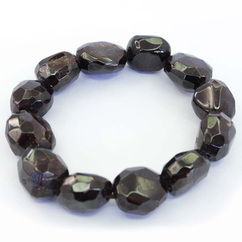 Garnet Faceted Bracelet 13