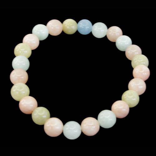 Beryl Morganite Aquamarine Round Bracelet 6