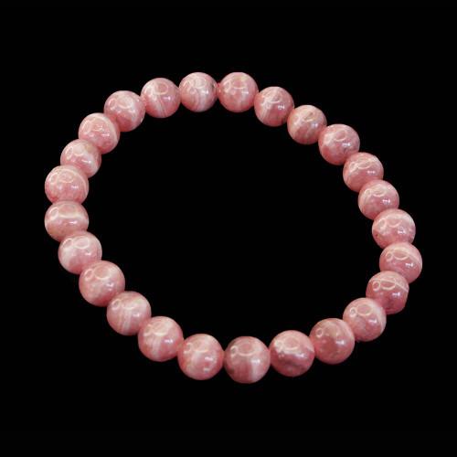 Rhodochrosite Round Bracelet 12