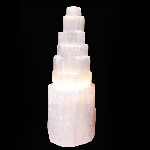 Selenite Lamp 20cm